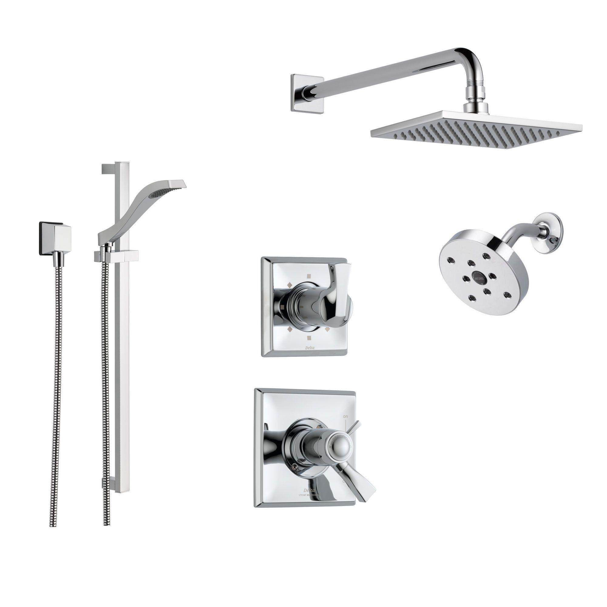 Delta Dryden Chrome Shower System With Thermostatic Shower Handle