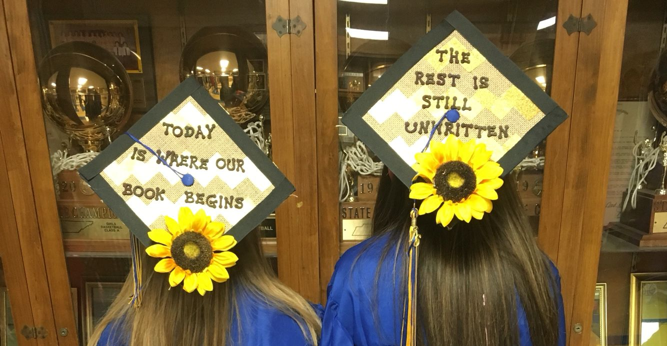 Best friend Graduation caps. From the song unwritten ...