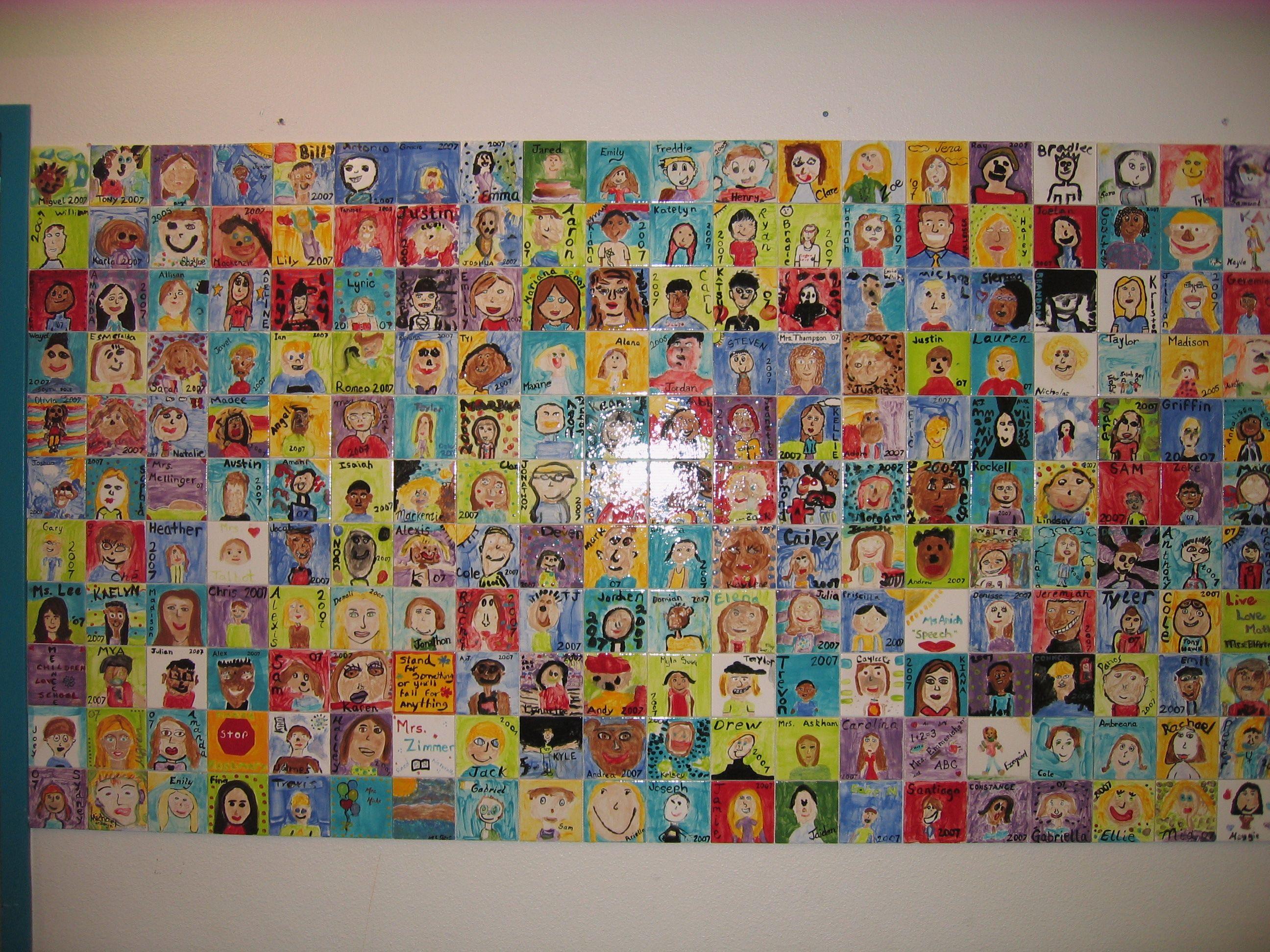Mural Tiles For Kitchen Decor Tile Mural Walls For School Fundraiser Art Projects For Kids