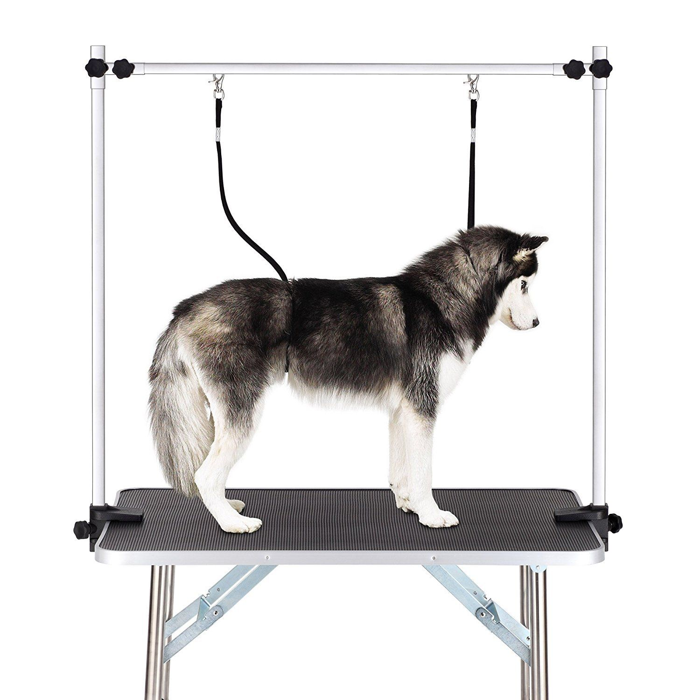 Gelinzon Dog Grooming Table Large Heavy Duty w/Adjustable