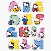 Alfabeto de Hello Kitty de Colores  Hello Kitty  Pinterest