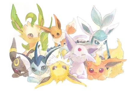 Eevee Evolutions Desktop Nexus Wallpapers Cute Pokemon Wallpaper Eevee Evolutions Eevee Cute