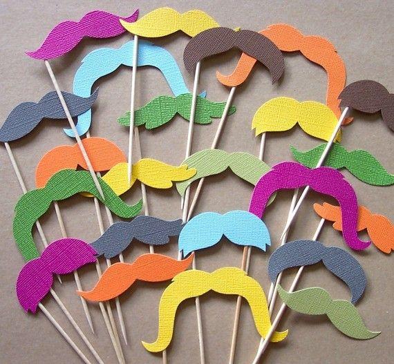 colored mustache props.