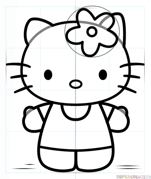 How To Draw Hello Kitty Step By Step Drawing Tutorials Kitty Drawing Hello Kitty Coloring Kitty Coloring