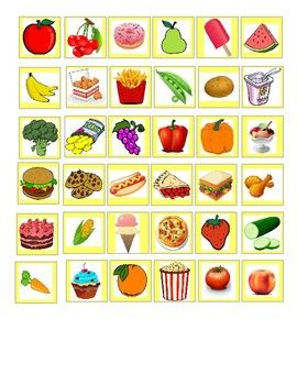 Four Shopping Lists And 36 Food Tiles Print Out The Lists And The Food Tiles And Laminate For Durability Alternative Way Grocery Shop Food Print Workout Food