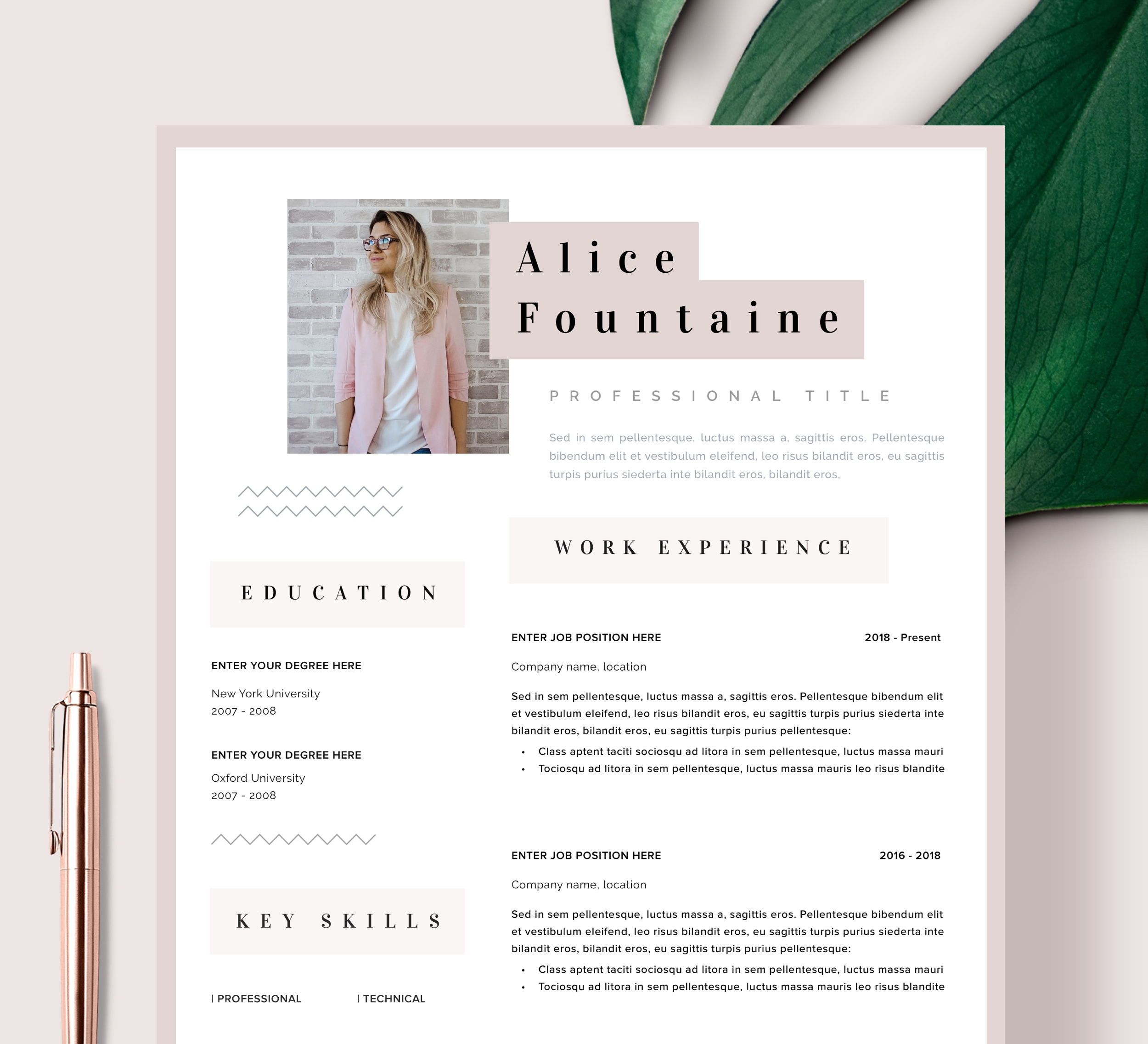 Creative Resume Template Word Pages Instant Download Resume Etsy Creative Resume Templates Creative Resume Resume Template Word Creative resume template for word