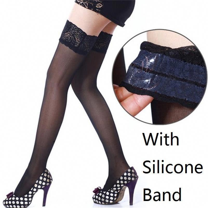f64efdd23 Women Lace Top Stockings
