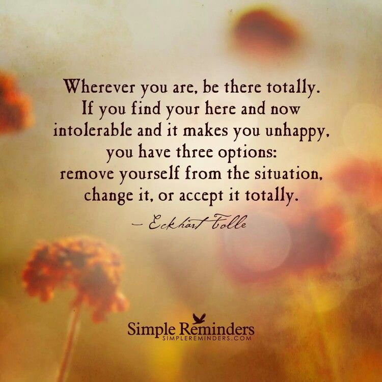 Remove yourself from the situation