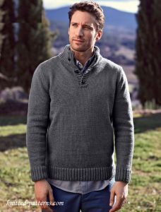 Button Neck Sweater Knitting Pattern Free For My Men Sweater