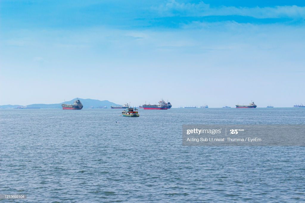 Boats Sailing In Sea Against Sky Photography #Ad, , #spon, #Sailing, #Boats, #Sea, #Photography
