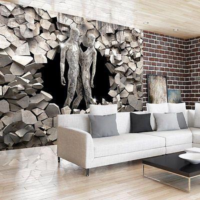 Details zu VLIES FOTOTAPETE *3 Farben zur Auswahl* TAPETEN GESTALT - tapeten wohnzimmer grau