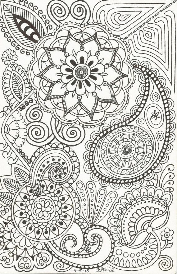 This Henna Inspired Doodle Is 5 1 2 X 8 It Would Look Great To Print Out As And Frame OR You Could Do Something That Will Help