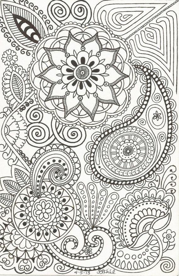 Henna-Inspired Doodle by PLHill | zentangles | Pinterest | Mandalas ...
