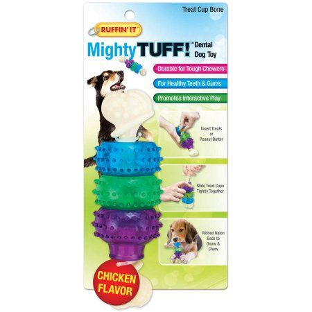 Mighty Tuff Treat Cup Bone Dog Toy Pet Toys Dog Toys Dog Chew Toys