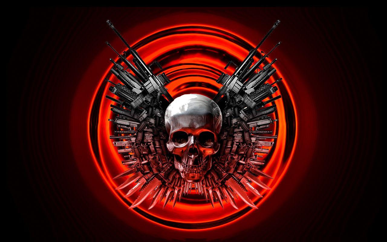 Skull And Guns Wallpaper Guns Ammo Pinterest Skull Skull