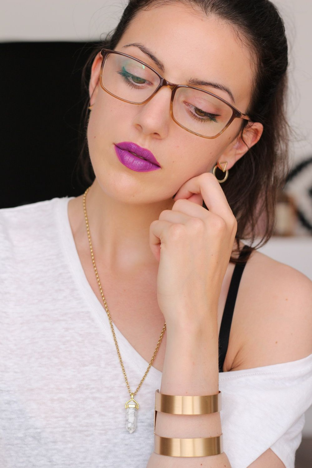 Make up mit Brille
