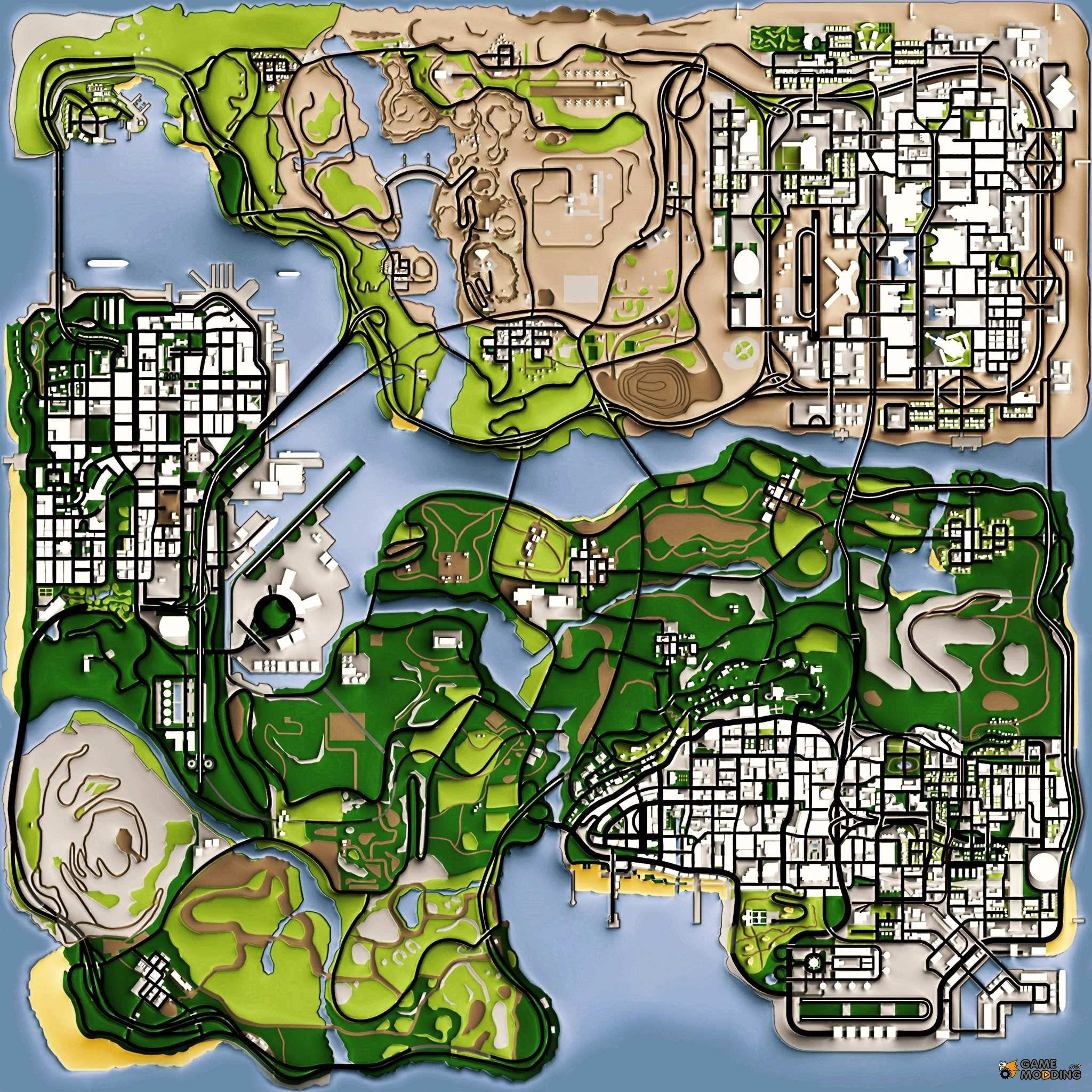 maps for gta san andreas latestgames pinterest. Black Bedroom Furniture Sets. Home Design Ideas
