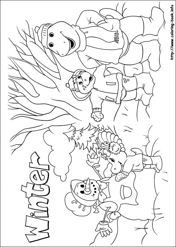 Barney and Friends coloring picture | Barney the dinosaur | Pinterest