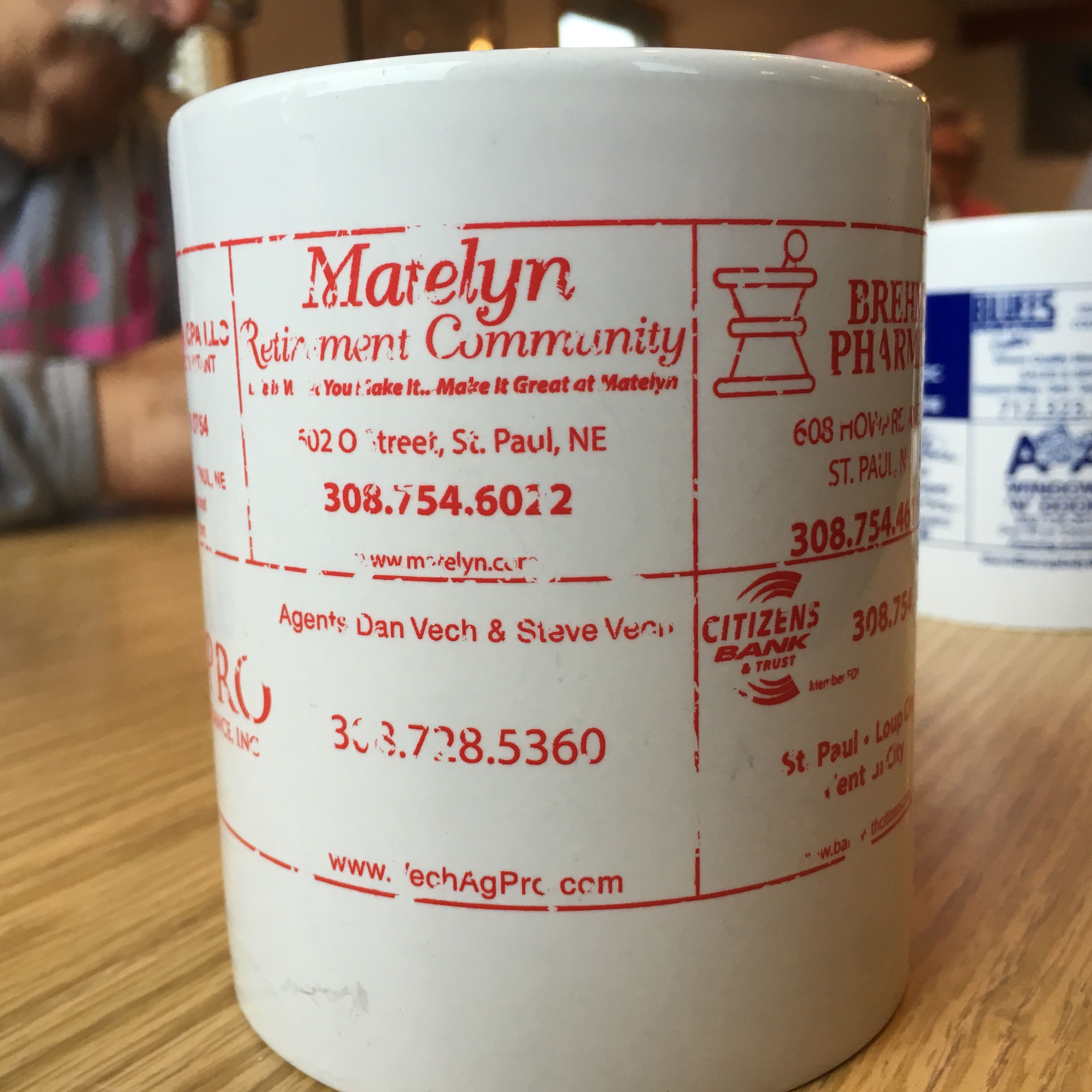 Coffee Mug Found At Amato S Omaha Nebraska With Advertising From Jennifer Smedra Cpa St Paul Nebraska Agpro Insurance Mar With Images Mugs Nebraska Retirement Community