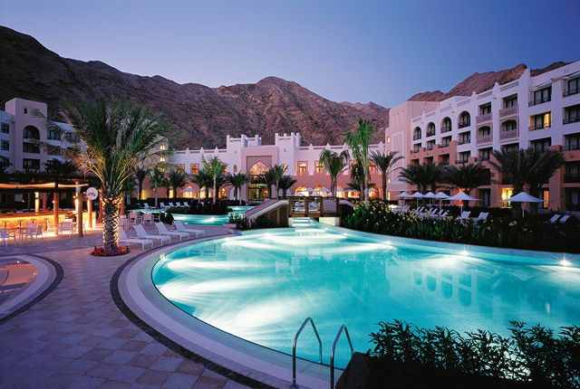 Picture Of The Day Al Waha Hotel Pool At Night With Sinbad S