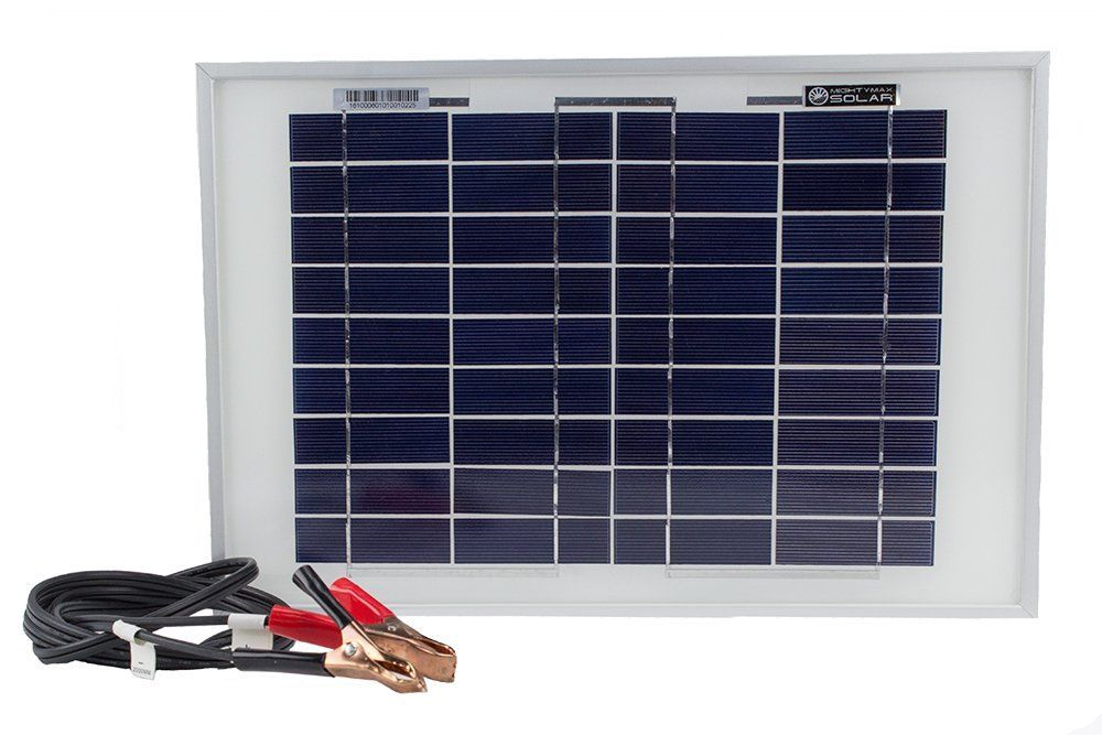 10 Watt Polycrystalline Solar Panel Charger For Deep Cycle Battery Mighty Max Battery Brand Product Solar Panel Charger Solar Panels Portable Solar Panels