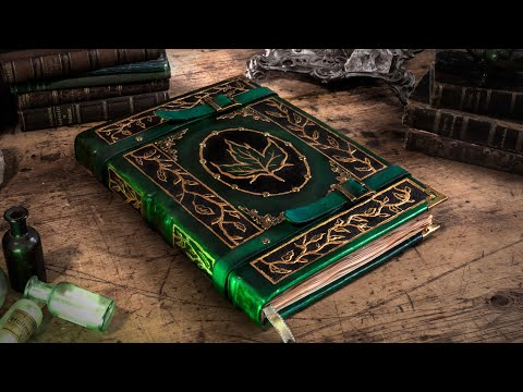 3 I Made An Epic Druid Spelltome The Tome Of Earth Youtube Druid Fantasy Craft Grimoire