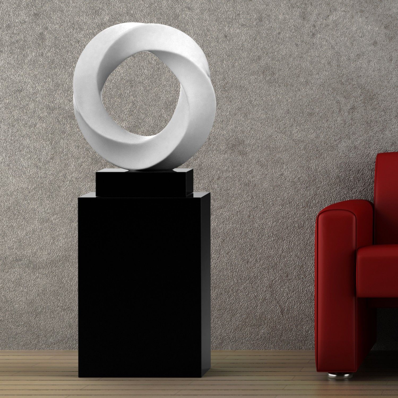 end display jacobs pedestal for by table pedestals woodworks drum sculpture