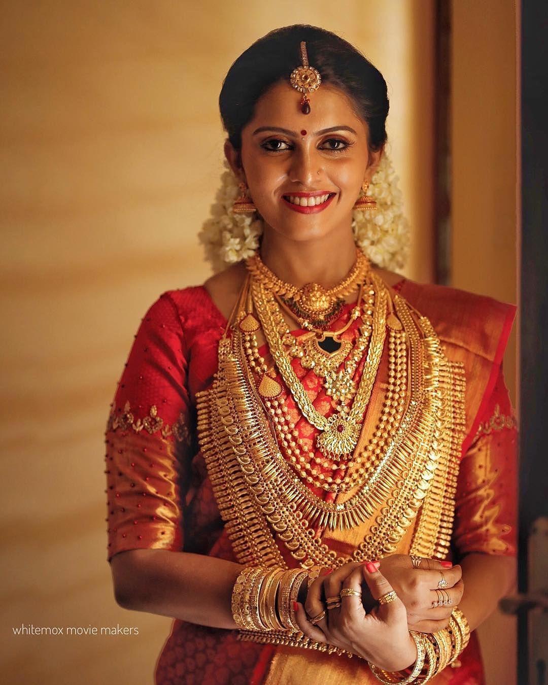 Wedding Sarees For Bride Kerala Hindu: @bridesofkerala On Instagram