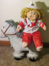 1984 Cabbage Patch Kids Vintage Show Pony and Western Wear Cowgirl-CPK