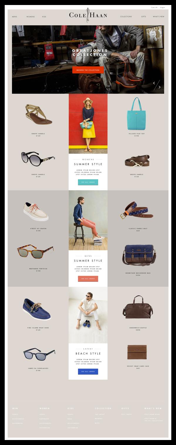 cole haan on behance | Веб-дизайн, Шаблоны для веб-дизайна