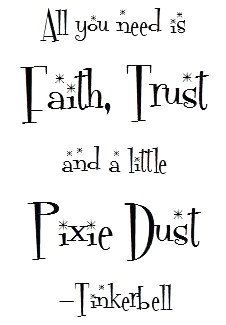 Dust Quote Cool A Little Pixie Dust  Tinkerbell Quote Art Print.