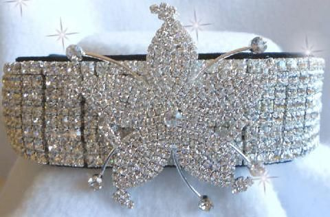 High Fashion Haute Couture Fancy Rhinestone Dog Collars