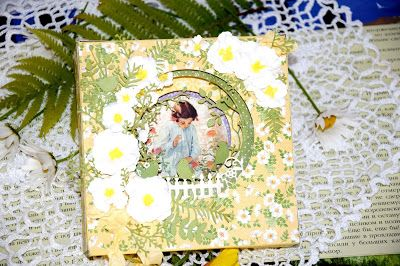 Yuliya's project using Fancy Pocket Plus, Garden Stems and 3-D flower die #5 dies