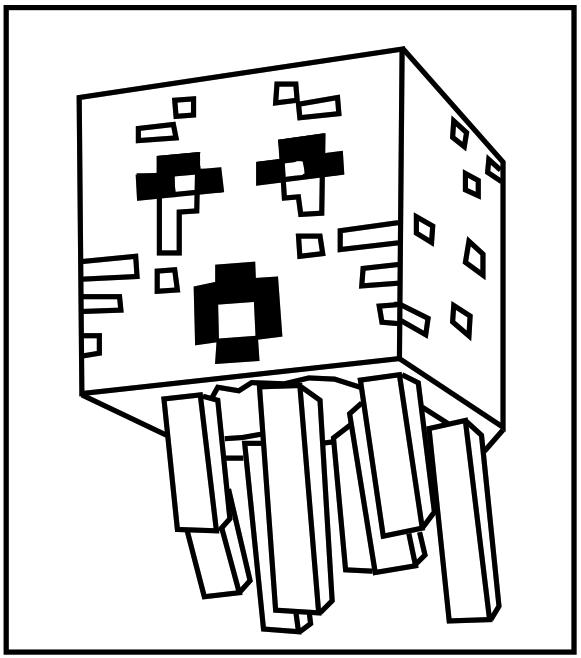 Minecraft Creeper Malvorlagen Printable Minecraft Ghast Coloring Pages Ausmalbilder Minecraft Buku Mewarnai