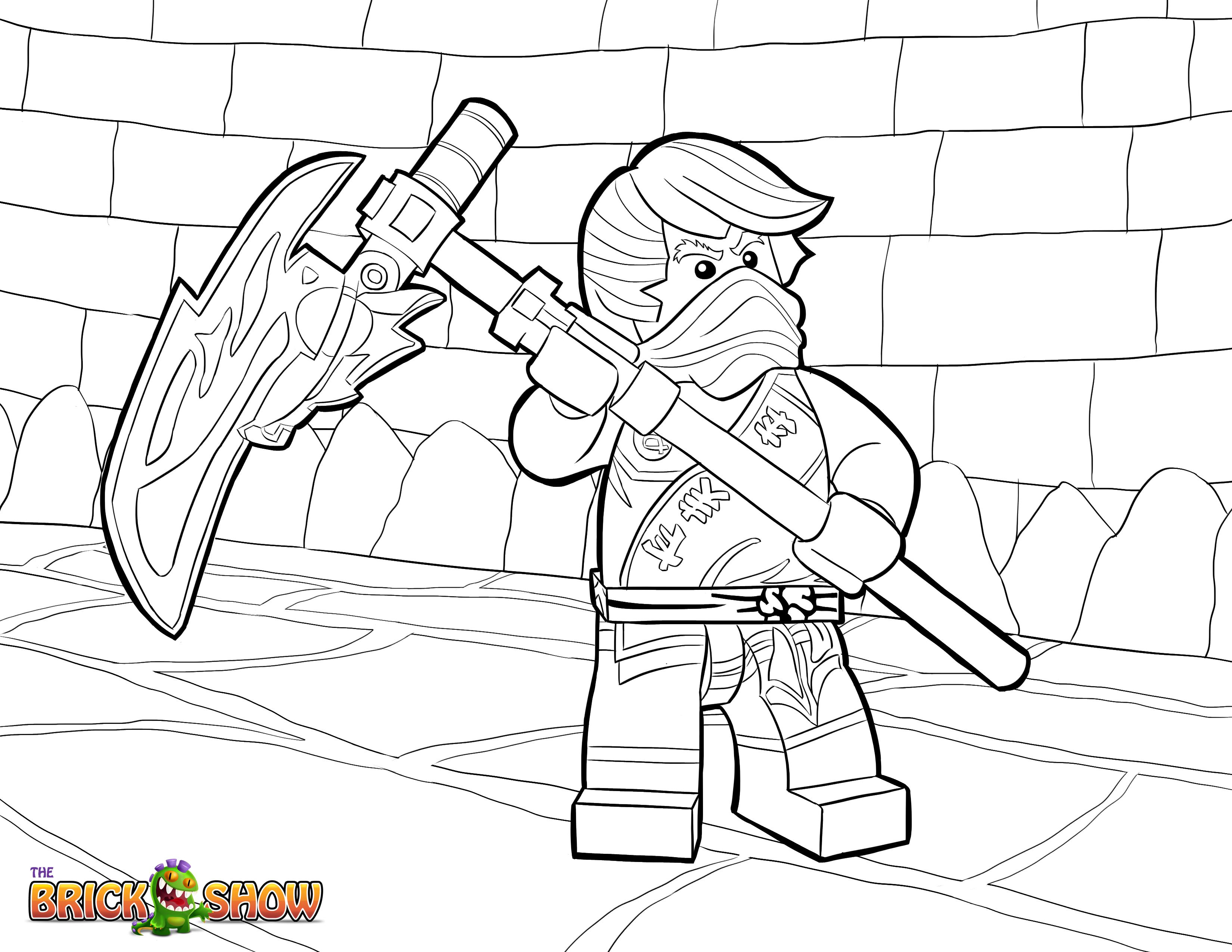 LEGO Ninjago Cole Tournament of Elements Coloring Page