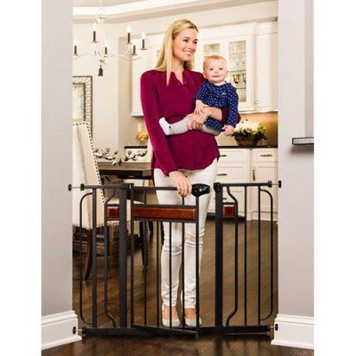 Regalo Child Accents Extra Wide Tall Walk Thru Pet Baby Safety Indoor Gate Door