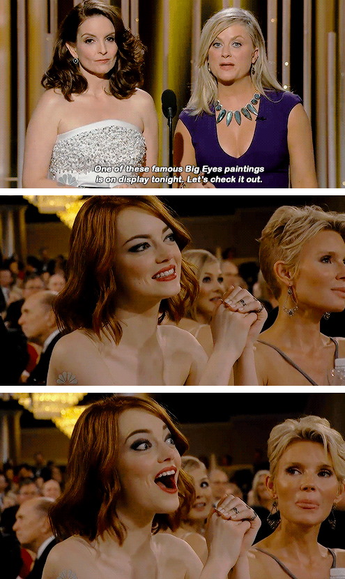 Emma Stone at the 72nd Annual Golden Globe Awards at The Beverly Hilton Hotel on January 11, 2015