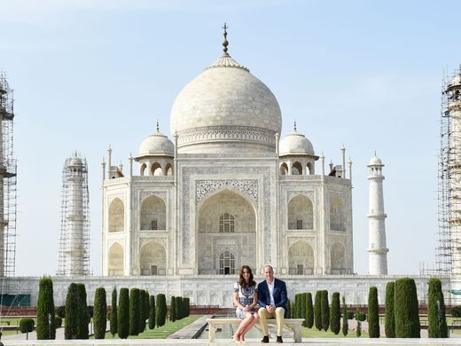 What a trip and what a way to end a trip. Will and Kate visit the Taj Mahal in India sitting where Diana sat in 1992.