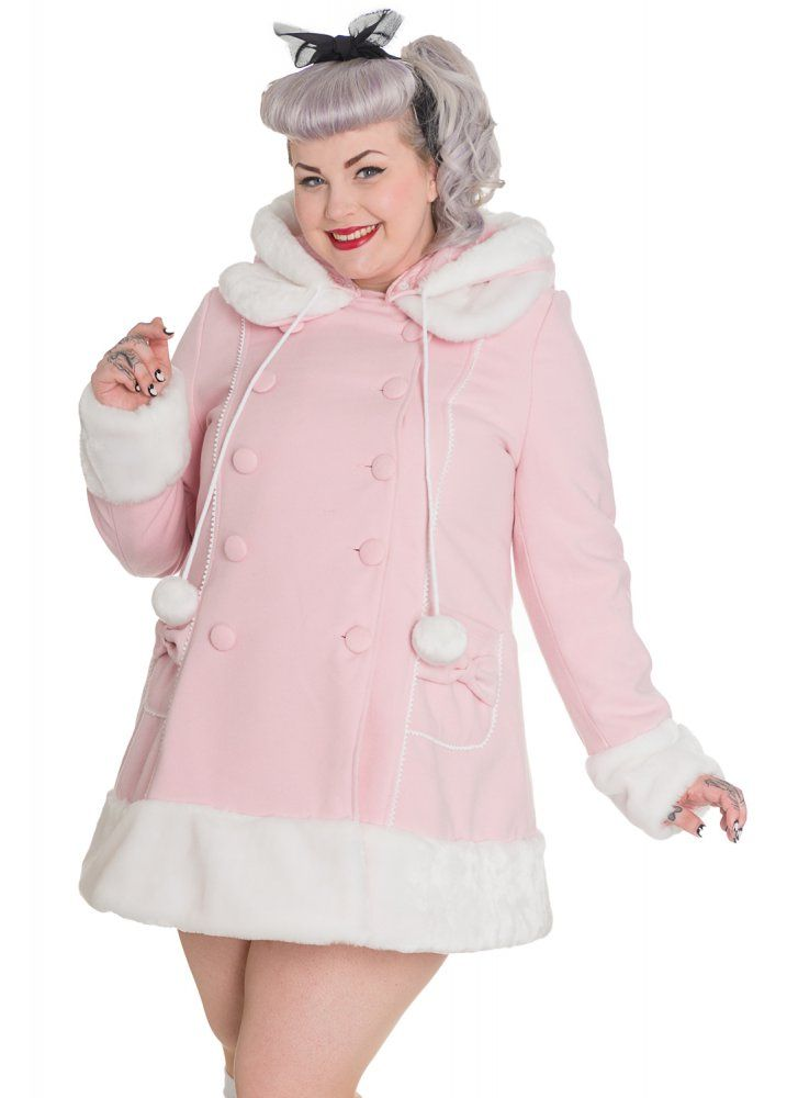 Hell Bunny Sarah Jane Coat | Attitude Clothing This baby pink ...