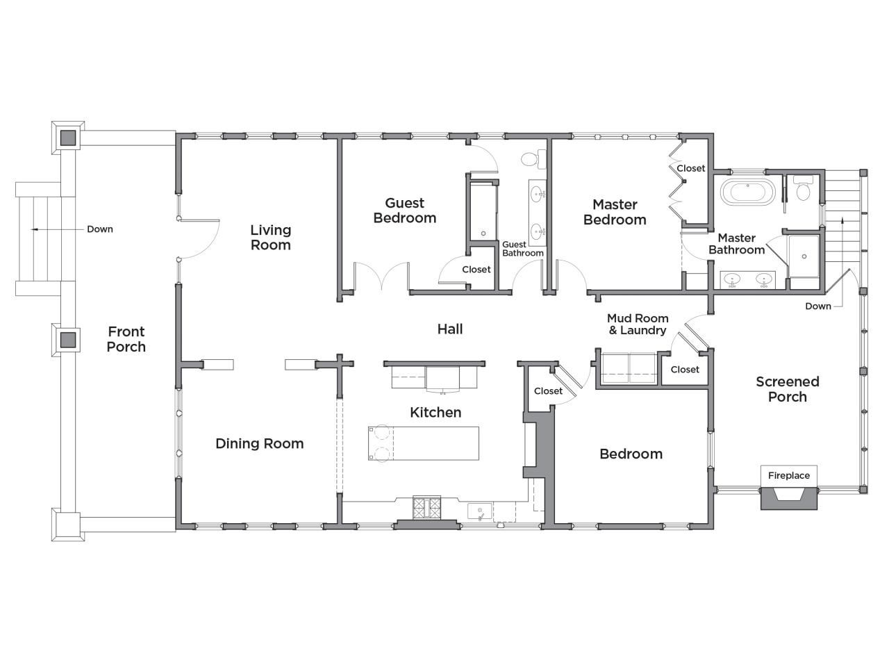 Discover The Floor Plan For Hgtv Urban Oasis 2017 Floor Plans House Plans House Floor Plans