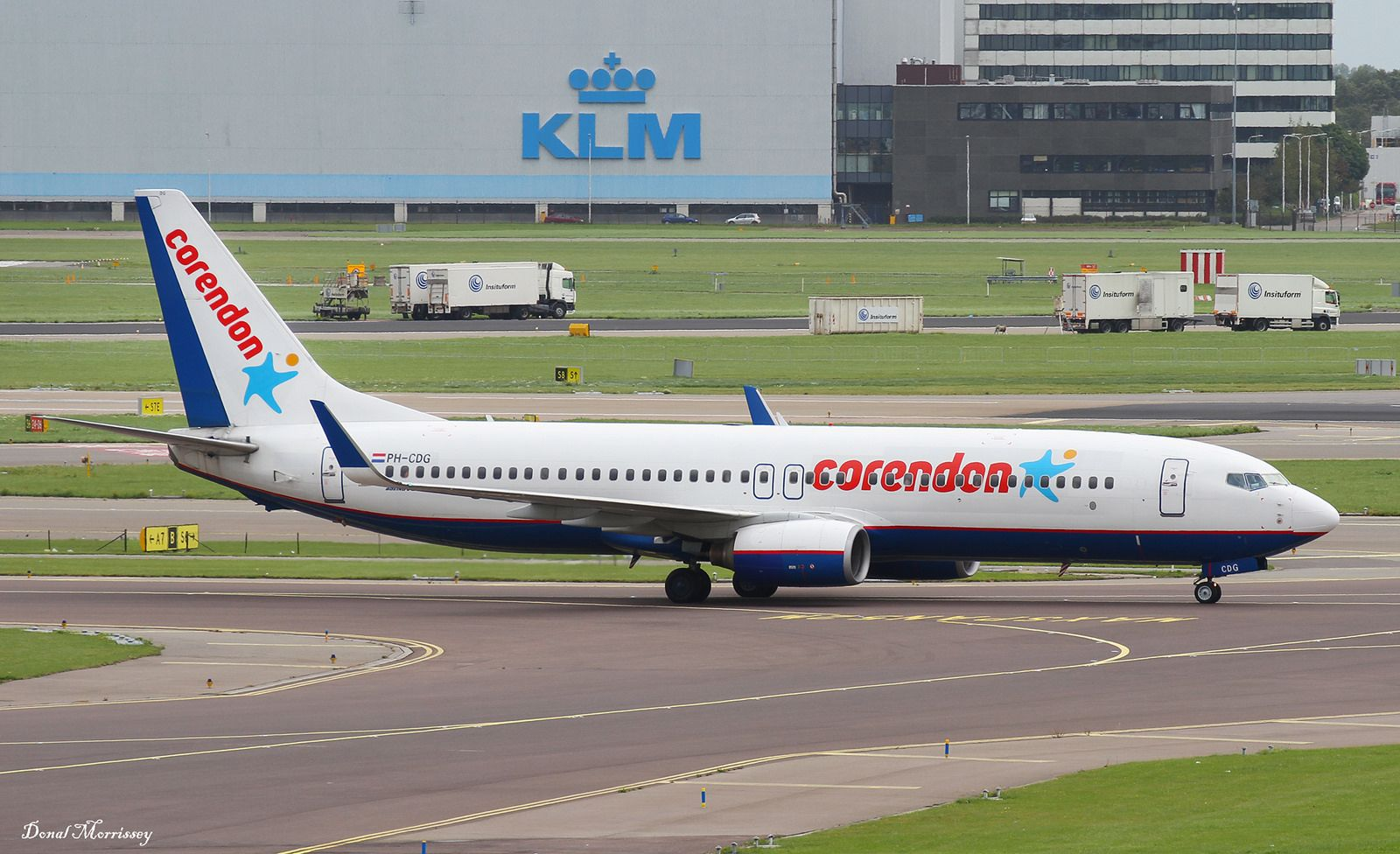 Corendon Airlines 737-800 PH-CDG | Corendon Airlines 737-86J Reg: PH-CDG taxing at Amsterdam. Aircraft still in the basic Orenair colours with Corendon titles.