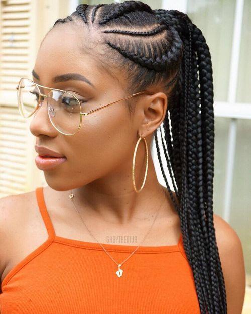 70 Best Black Braided Hairstyles That Turn Heads Hair Styles Cornrow Ponytail Braids For Black Hair