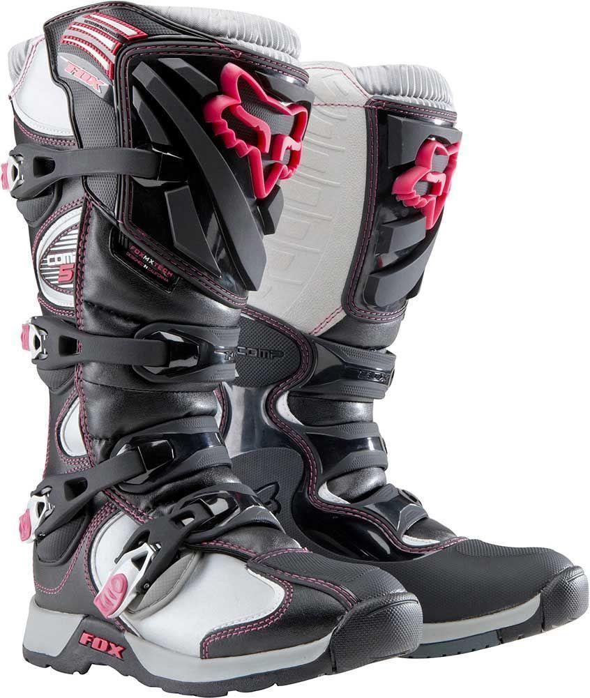 2015 Fox Racing Comp 5 Womens Motocross Dirtbike Mx Atv Racing Riding Boots Racing Boots Dirt Bike Boots Dirt Bike Gear