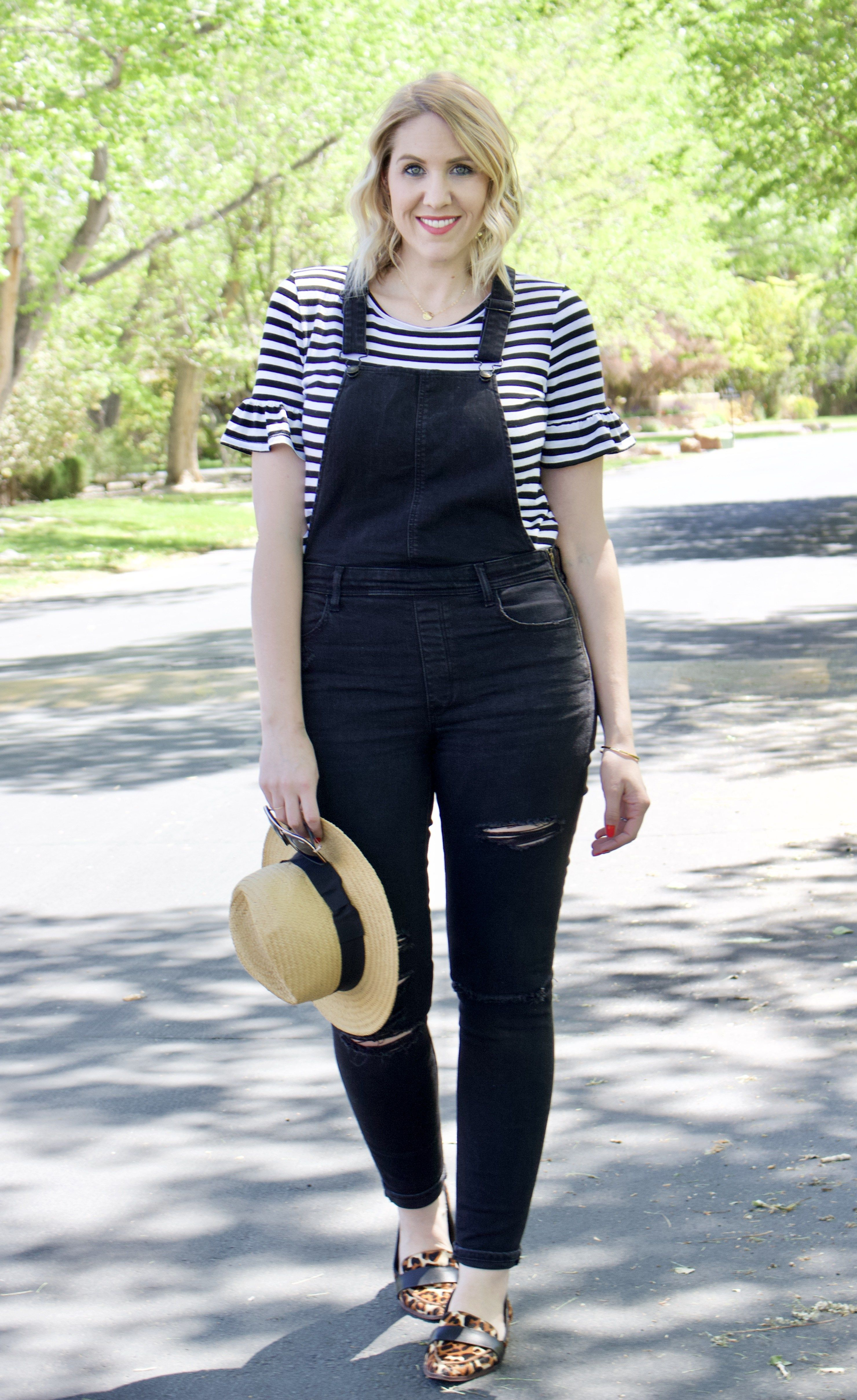 66b806233c black distressed jegging overalls outfit  overallsoutfit  overalls   solesociety  momstyle