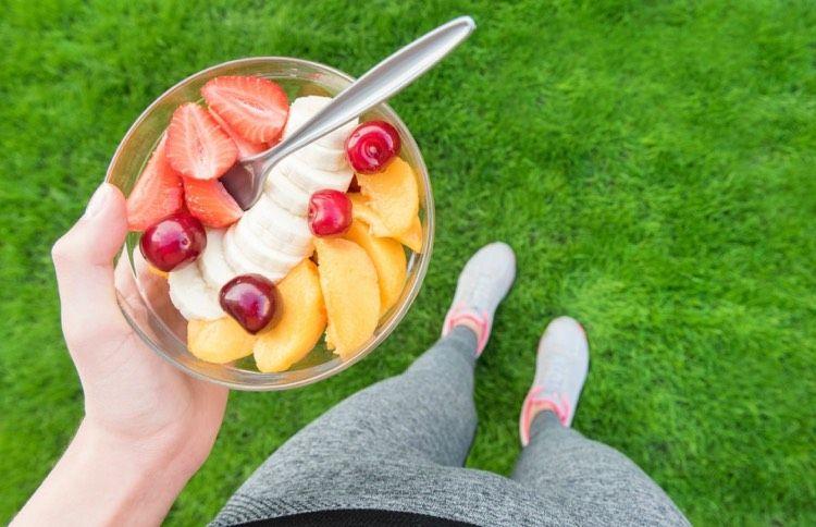 Viel Obst nach Training essen