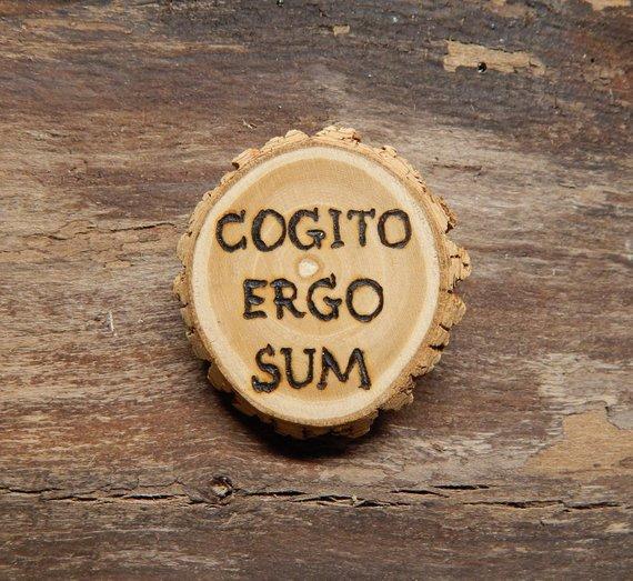 Vinyl Decal//Sticker Latin - I think Therefore I Am Cogito Ergo Sum