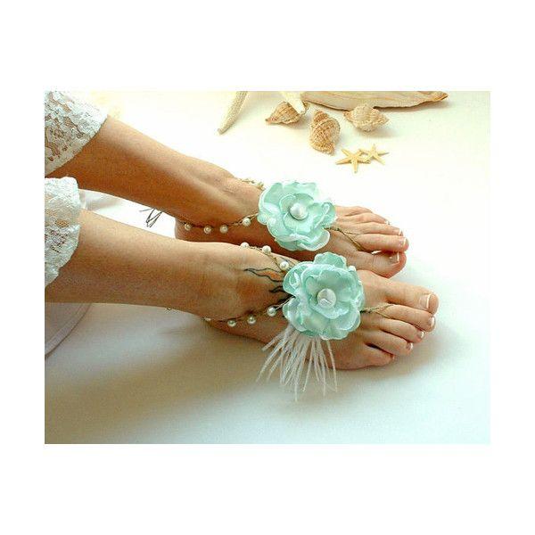Mint Feet Decorations For A Beach Wedding Mint Wedding Shoes