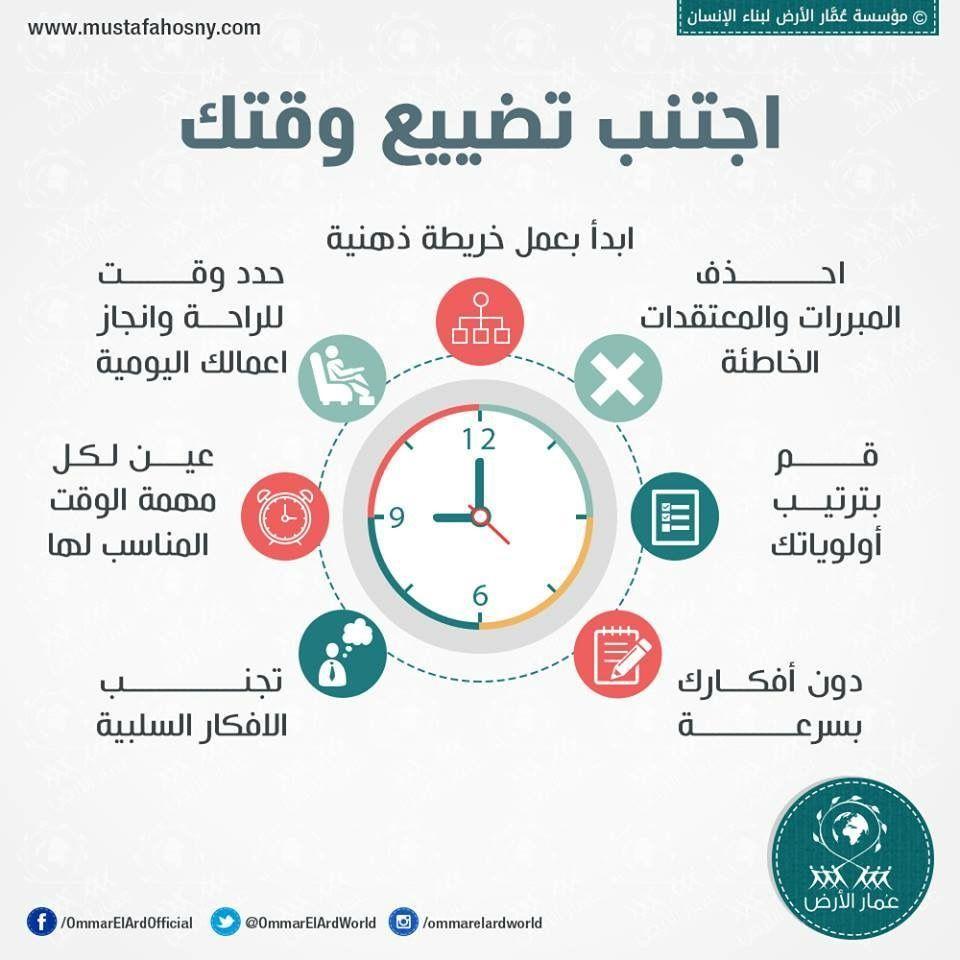الوقت 7 طرق لعدم تضييع الوقت Learning Websites How To Memorize Things Life Skills Activities