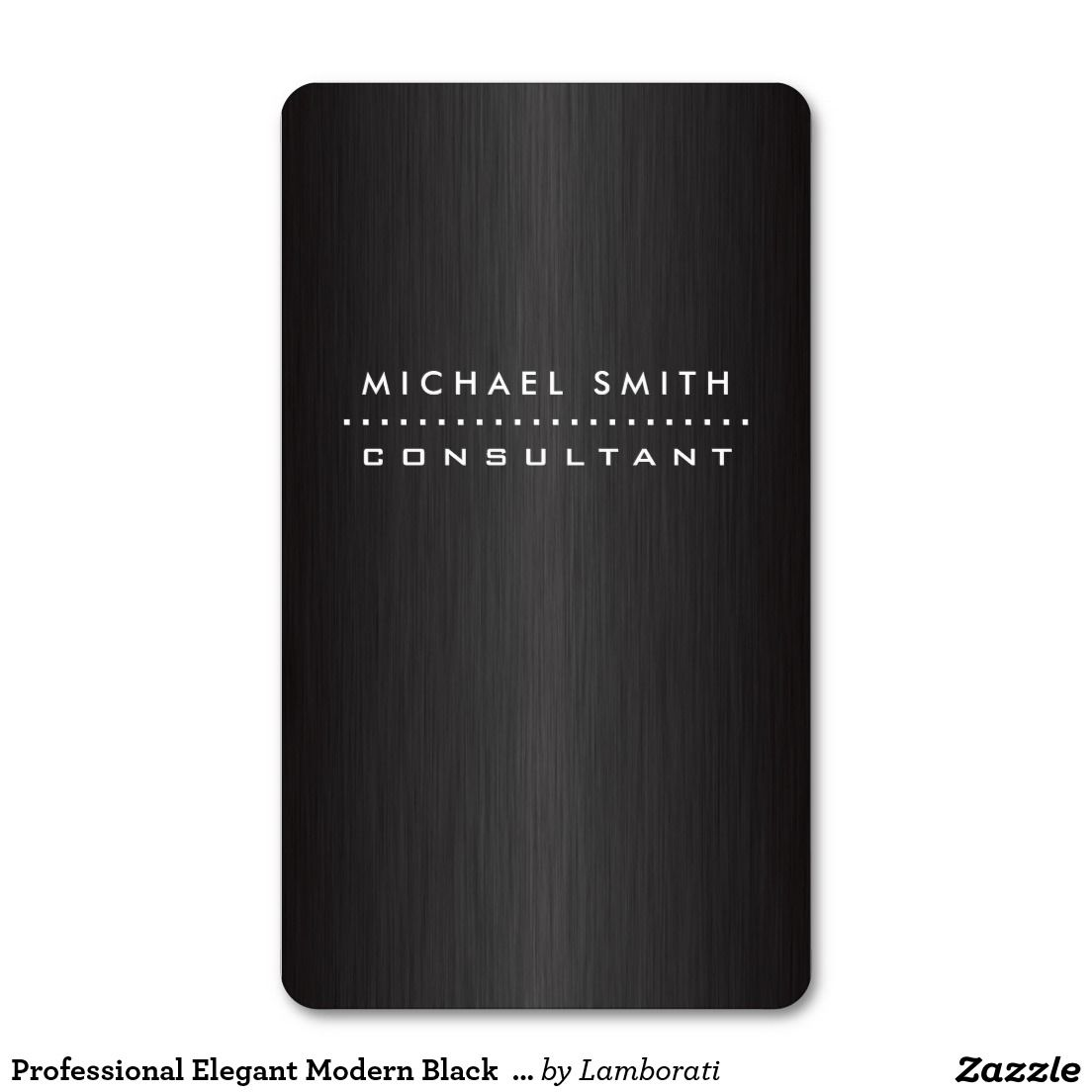 Professional Elegant Modern Black Brushed Metal Business Card ...