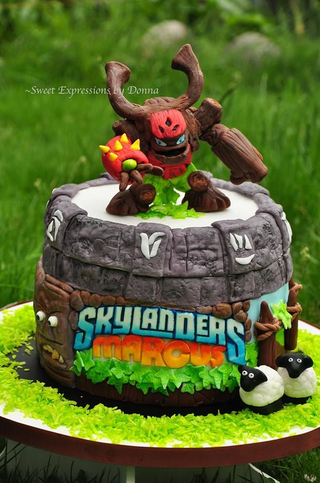 Tree Rex Skylanders Giants Cake Everything is handmade handcut and